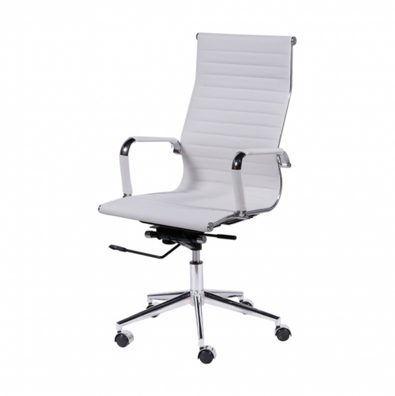 Cadeira Branca de Escritório Orçamento Parque Maria Domitila - Cadeira de Escritório Reclinável