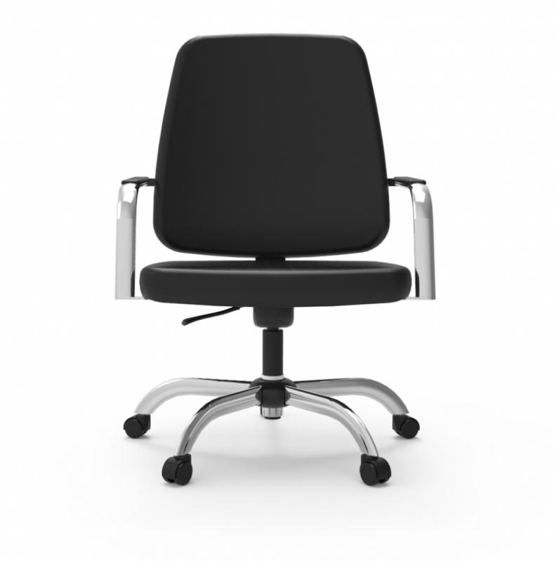Cadeira Giratória Executiva Escritório Interlagos - Cadeira para Escritório Giratória Transparente
