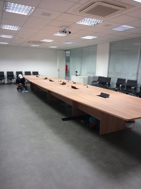 Mesa de Sala de Reunião Preço Taquara - Sala de Reunião com Mesa Redonda