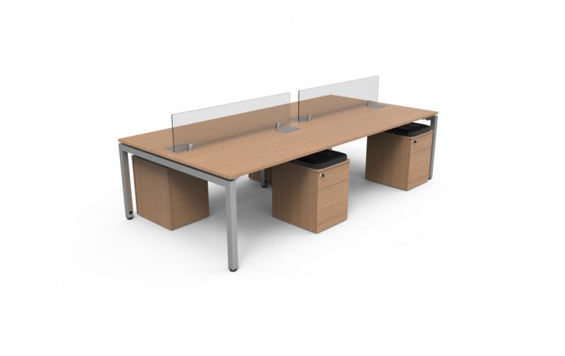 Mesa para Escritório Plataforma 4 Lugares Preço ABCD - Plataforma de Trabalho Escritório