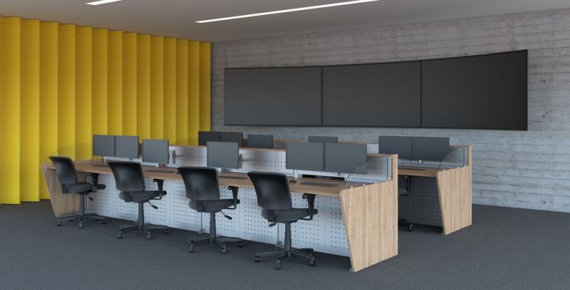 Mobiliário Técnico para Sala de Monitoramento Barata Ipiranga - Mobiliário Técnico Customizado
