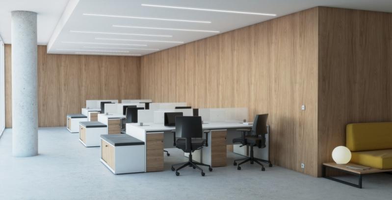 Móveis para Escritório Plataforma de Trabalho Jardim Novo Mundo - Mesa para Escritório Plataforma 4 Lugares