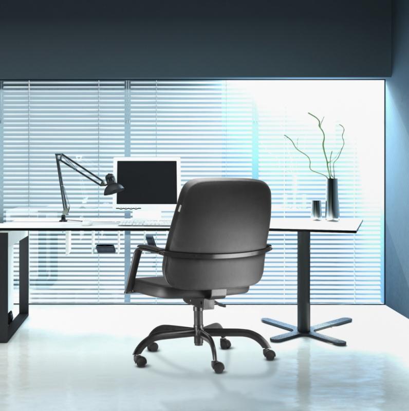 Onde Vende Cadeira Giratória para Escritório de Couro Sacomã - Cadeira para Escritório Giratória Tipo Executiva