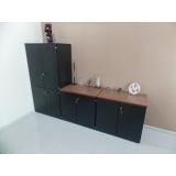 armário para escritório preto preço Chácara Inglesa