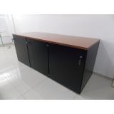 armário para escritório preto sob medida Rocha