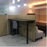 bancada de madeira para escritório preço Colégio