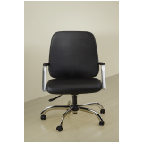 cadeira de escritório couro