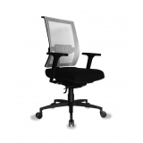 cadeira de escritorio com rodizio de silicone Penha Circular