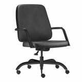 cadeira de escritório presidente em couro