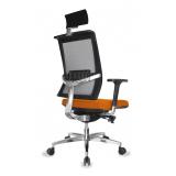 cadeira de escritório presidente em tecido