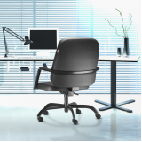 cadeira escritório presidente couro Penha Circular