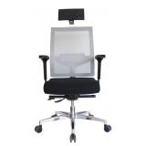 cadeira escritório presidente simples preço Jardim Panorama