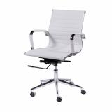cadeira giratória branca com braço Ipiranga
