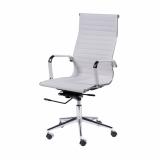 cadeira giratória branca com braço