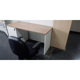 comprar mesa branca home office Parque do Chaves