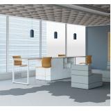 fábrica de bancada de madeira para escritório Leblon