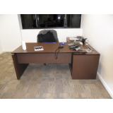 mesa de diretoria em l orçamento Santa Isabel