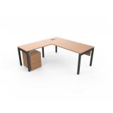 mesa de escritório com gaveteiro preço Jardim Novo Mundo