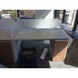 mesa de escritório com gaveteiro valores Franca
