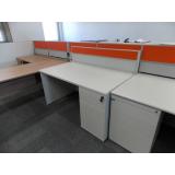mesa de escritório de madeira Sumaré