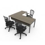 mesa de escritório diretoria em l preço Higienópolis