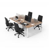 mesa de escritório moderna Bragança Paulista