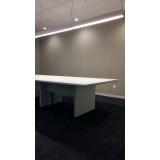 mesa de escritório para sala de reunião preço Leblon