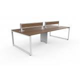 mesa de escritório plataforma 4 lugares em atacado Vila Mazzei