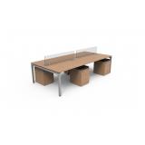 mesa de escritório plataforma 4 lugares preço São Carlos