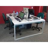 mesa de escritório plataforma 4 lugares Jandira