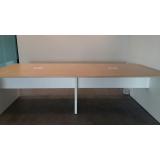 mesa de madeira escritório valores Leblon