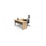 mesa de madeira para escritório preço Barueri