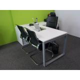 mesa de madeira para escritório Vila Mazzei