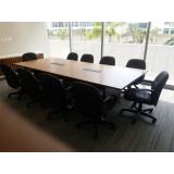 mesa de sala de reunião Brás