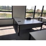 mesa para diretoria em l preço Vila Mazzei
