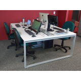 mesa para escritório plataforma 4 lugares Americana