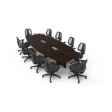 mesa para sala de reunião oval