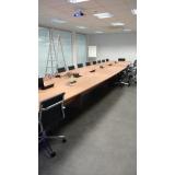 mesa para sala de reunião oval valor Parque Anhembi