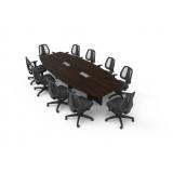 mesa para sala de reunião oval São Domingos