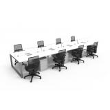 mesa plataforma com gaveteiro