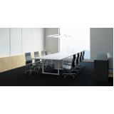mesas modulares para sala de reunião preço Campo Limpo