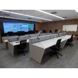 mobiliário técnico para sala de controle Bauru