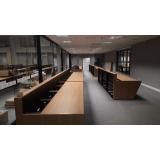mobiliários técnicos para sala de controle Pompéia