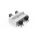 mesa de escritório plataforma 4 lugares