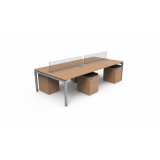 mesa escritório plataforma 4 lugares
