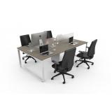 mesa para escritório plataforma 4 lugares