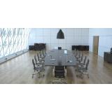quanto custa mesa grande para sala de reunião Chácara Flora