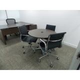 sala de reunião com mesa redonda Interlagos
