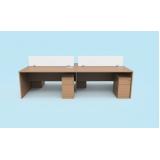 venda de mesa plataforma com gaveteiro Cardeal