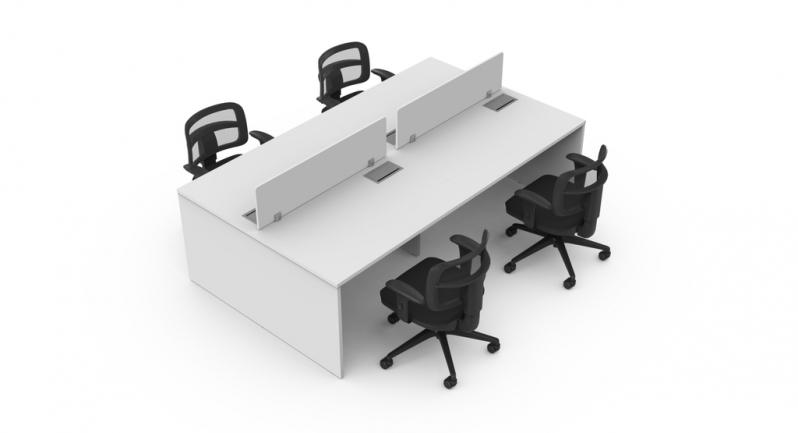 Valor de Mesa para Escritório Plataforma 4 Lugares ALDEIA DA SERRA - Plataforma para Escritório para Trabalho